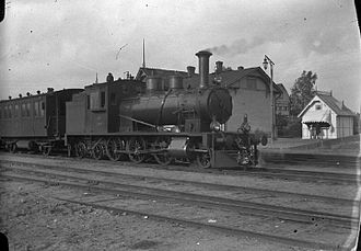 Espoo - VR Class Vk3 steam locomotive at Kauklahti railway station in the 1920s