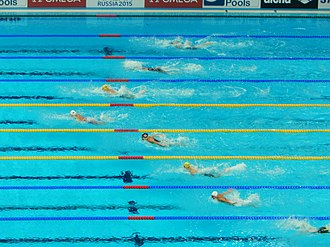 Swimming at the 2015 World Aquatics Championships – Women's 4 × 100 metre medley relay - Image: Kazan 2015 the last final heat of 16th World Championships