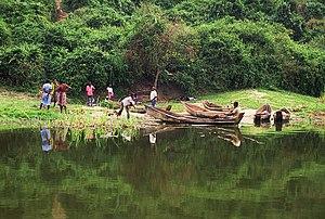 Kazinga Channel - Fishermen at the Kazinga Channel