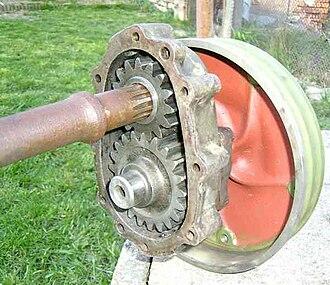 Portal axle - Simple portal gearbox from a Volkswagen Type 82 Kübelwagen