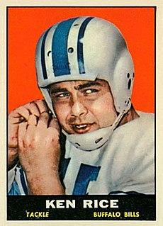 Ken Rice (American football) American football player