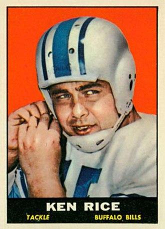 Ken Rice (American football) - Rice in 1961