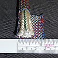 Kernmantle climbing rope dynamic Sterling 10.7mm sheath opened.jpg