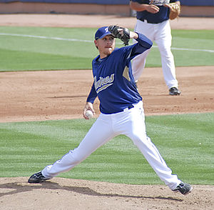 Kevin Correia - Correia with the San Diego Padres in 2009 spring training