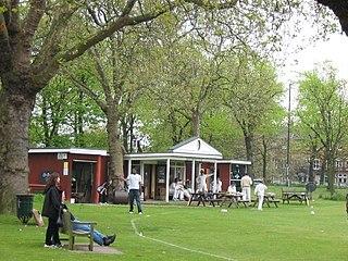 Kew Green park in Kew, London