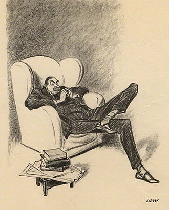 John Maynard Keynes - Caricature by David Low, 1934