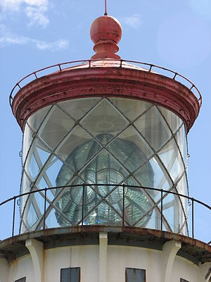 Conservation and restoration of lighthouses - Lantern with a lens inside