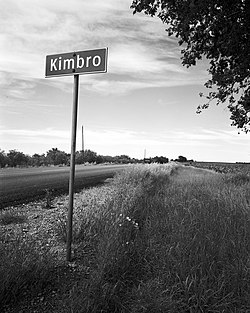 Kimbro, Texas sign