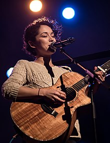 Kina Grannis at the Hapa Japan Festival Concert, in Bovard Auditorium on the campus of the University of Southern California (USC) in downtown Los Angeles, California, on Saturday, February 25, 2017. Taken by Justin Higuchi.jpg