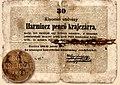 Kincstári utalvány harmincz pengő krajczárra (1849).jpg