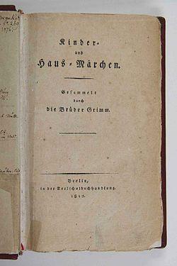 Kinder und Hausmärchen (Grimm) 1812 I p 001.jpg