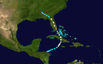Weather map of Hurricane King