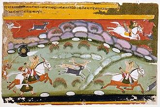 Parikshit - King Parikshit hunting
