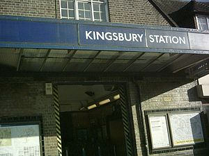 Kingsbury tube station - Image: Kingsbury entrance
