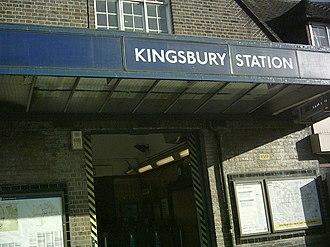 Kingsbury tube station - Image: Kingsbury entrance