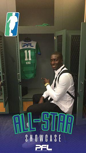 Manchester Futsal Club - Raducio King at his locker with his PFL shirt