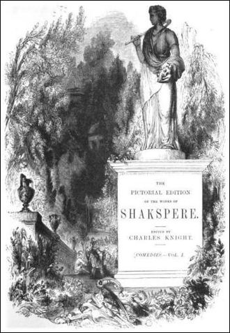 Charles Knight (publisher) - Title page of Knight's Pictorial Shakspere, 1867 edition. The non-standard spelling of Shakespeare's name set a trend.