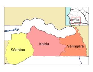 Vélingara Department - Image: Kolda departments big print