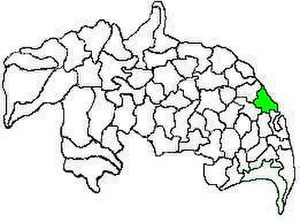 Kollipara mandal - Mandal map of Guntur district showing   Kollipara mandal (in green)