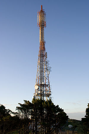 Mount Kaukau - Close-up of the Mount Kaukau television transmitter