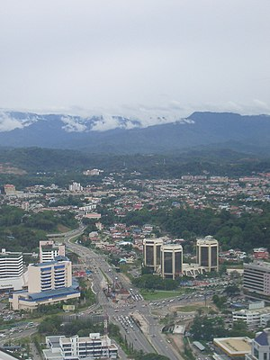 Kota Kinabalu Malaysia from the air - panoramio