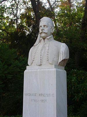 Nikolaos Kriezotis - Bust at the Pedion tou Areos