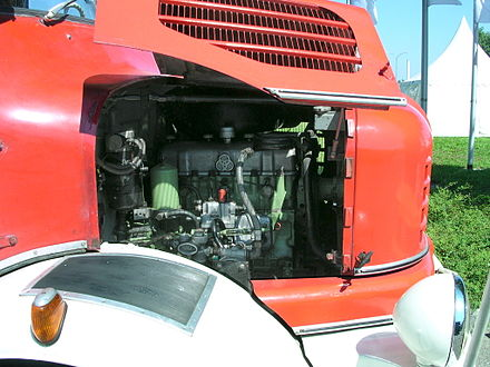 Zweitakt Dieselmotor Eines Krupp Lkw