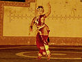 Kuchipudi dance performance by a girl at Shilparamam Jaatara 1.JPG