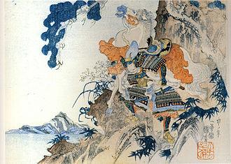 Hatakeyama Shigetada - Hatakeyama Shigetada.  Ukiyo-e woodblock print by Utagawa Kuniyoshi