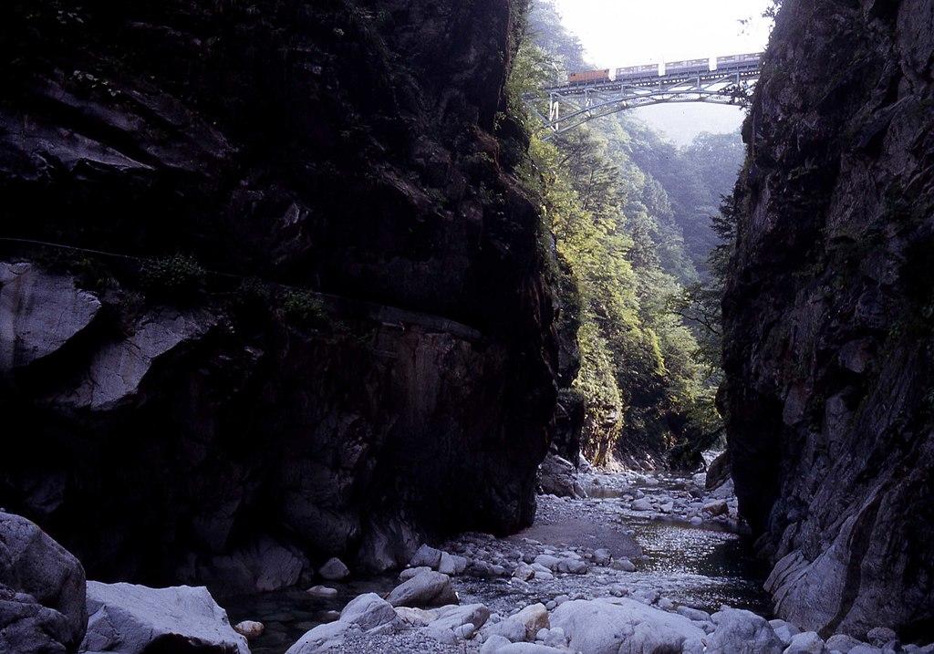 Kurobe Gorge Railway Bridge near Kuronagi