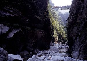 Kurobe Gorge Railway Bridge near Kuronagi.jpg