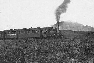 Shinano Railway Line - A train on the Kusatsu Light Railway