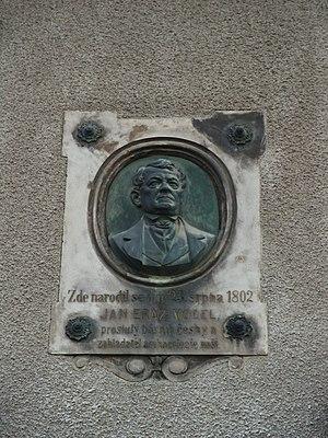 Jan Erazim Vocel - Commemorative plaque in Kutná Hora (Vocelova 349/10)