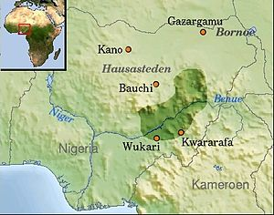 Jukun people (West Africa) - An estimated approximation of the boundaries of the historical Kwararafa, the kingdom from which the modern Jukun claim descendence.