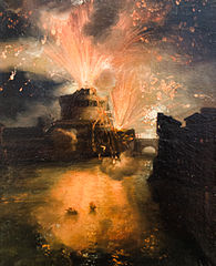 Fireworks at Castel Sant' Angelo in Rome