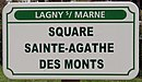 L1528 - Plaque de rue - Square Sainte-Agathe des Monts.jpg