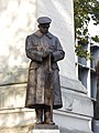LNWR War Memorial, Euston - southwest statue 01.jpg