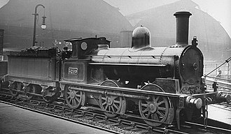 LNWR 17in Coal Engine - No. 3209 stands outside LondonRoad station, Manchester