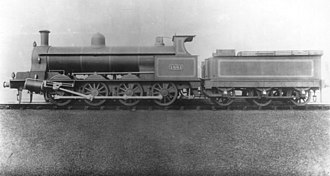 LNWR Class B - No. 1881 (later LMS 8900) in photographic grey livery - classified B from 1911