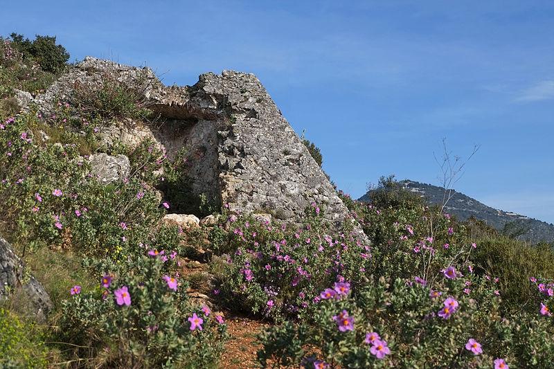 La pyramide de Falicon et le mont Chauve en arrière-plan.JPG