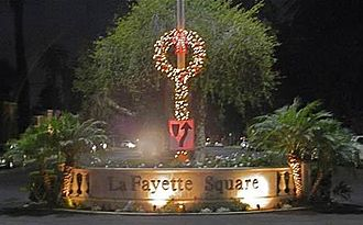 Lafayette Square, Los Angeles - The LaFayette Square neighborhood sign during Christmas