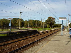 Lahinguvälja train station in Vikipalu