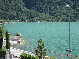 Porlezza - Image: Lake of Lugano from Porlezza (2)