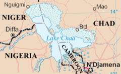 Lake Chad Map Lake Chad   Wikipedia