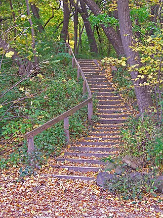 University of Wisconsin–Madison Lakeshore Nature Preserve - Image: Lakeshore Path to Muir Woods Madison, WI
