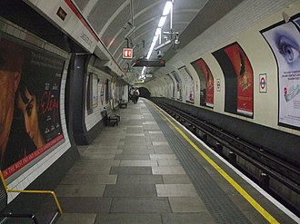 Lancaster Gate tube station - Image: Lancaster Gate stn eastbound look west
