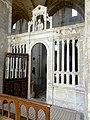 Laon (02), église Saint-Martin, bas-côté sud, chapelle devant la 7e travée, clôture.jpg