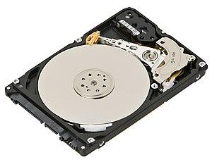 Hard disk drive - Internals of a 2.5-inch SATA hard disk drive