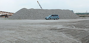 Port Norris, New Jersey - A massive pile of oyster shells in Shell Pile