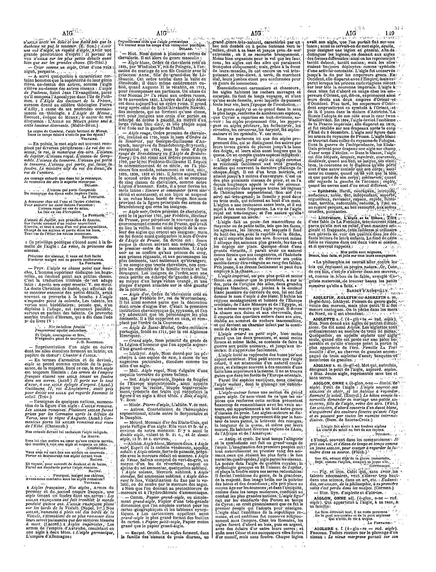 Page Larousse - Grand dictionnaire universel du XIXe siècle - Tome 1 ... a3c446c6310